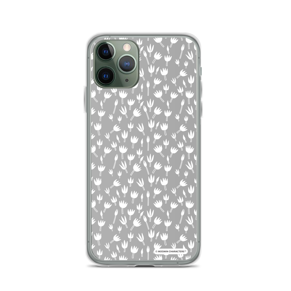 Moomin - Grey Flowers iPhone Case