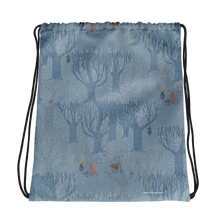 Load image into Gallery viewer, A day in November blue drawstring bag
