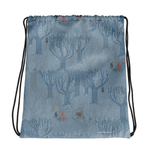 A day in November blue drawstring bag