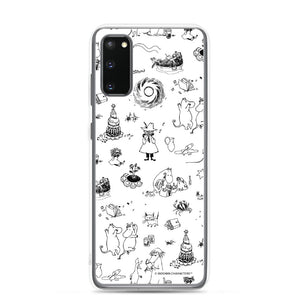 Comet adventure Samsung case black and white