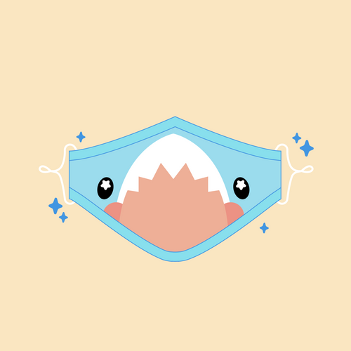 Cute Shark Face Mask