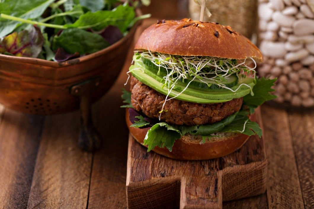 Black Bean Burgers and Slaw Salad