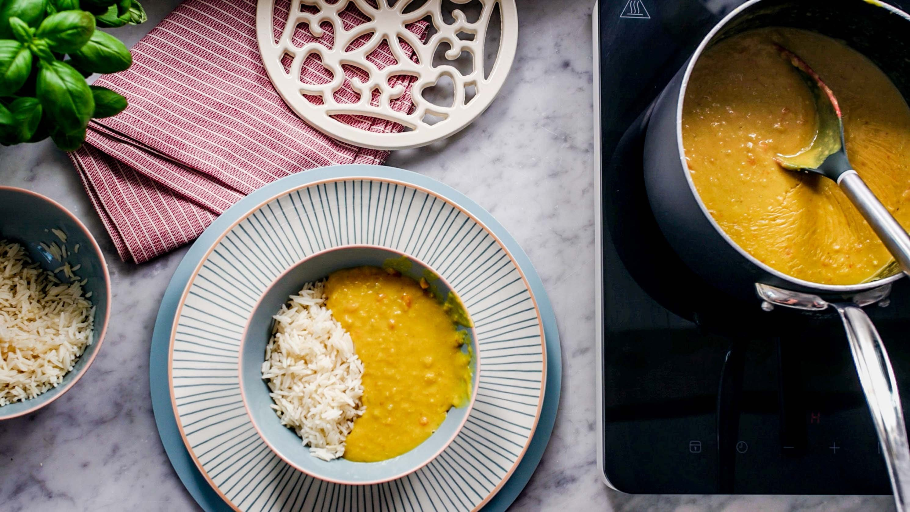 Carrot and Coconut Dhal