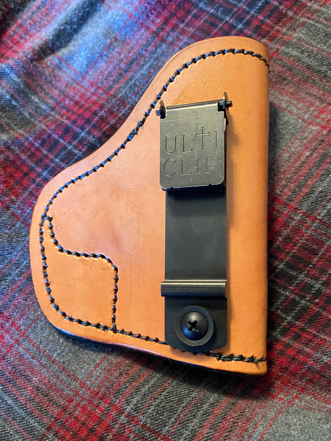Sub-Compact Frame IWB Brown Holster with Ulticlip