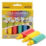 Cola Colorida Plastic Paint 6 Cores Acrilex