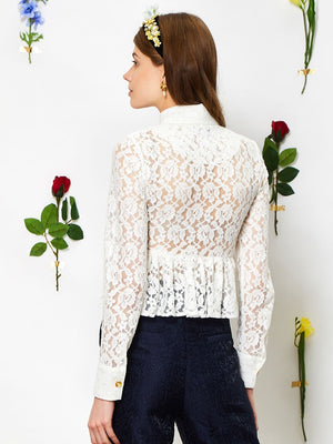 Orchid Lace Peplum Blouse Sister Jane