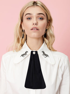 Foal Embroidered Retro Blouse Sister Jane