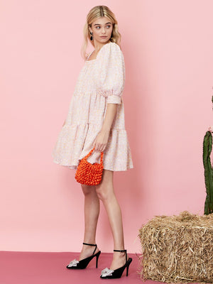 Confetti Tweed Pink Mini Dress Sister Jane