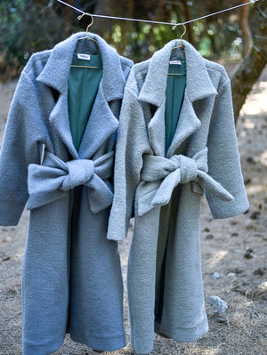 Asper Light Grey Coat Damodastories Collection