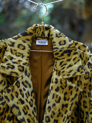 Gabrielle Animal Print Coat Damodastories Collection