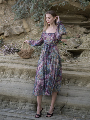 Fay MultiColor Maxi Dress Damodastories Collection