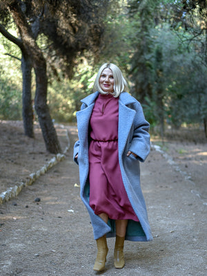 Asper Blue Grey Coat Damodastories Collection
