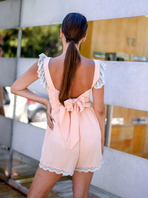 Angelina Peach Jumpsuit Damodastories Collection