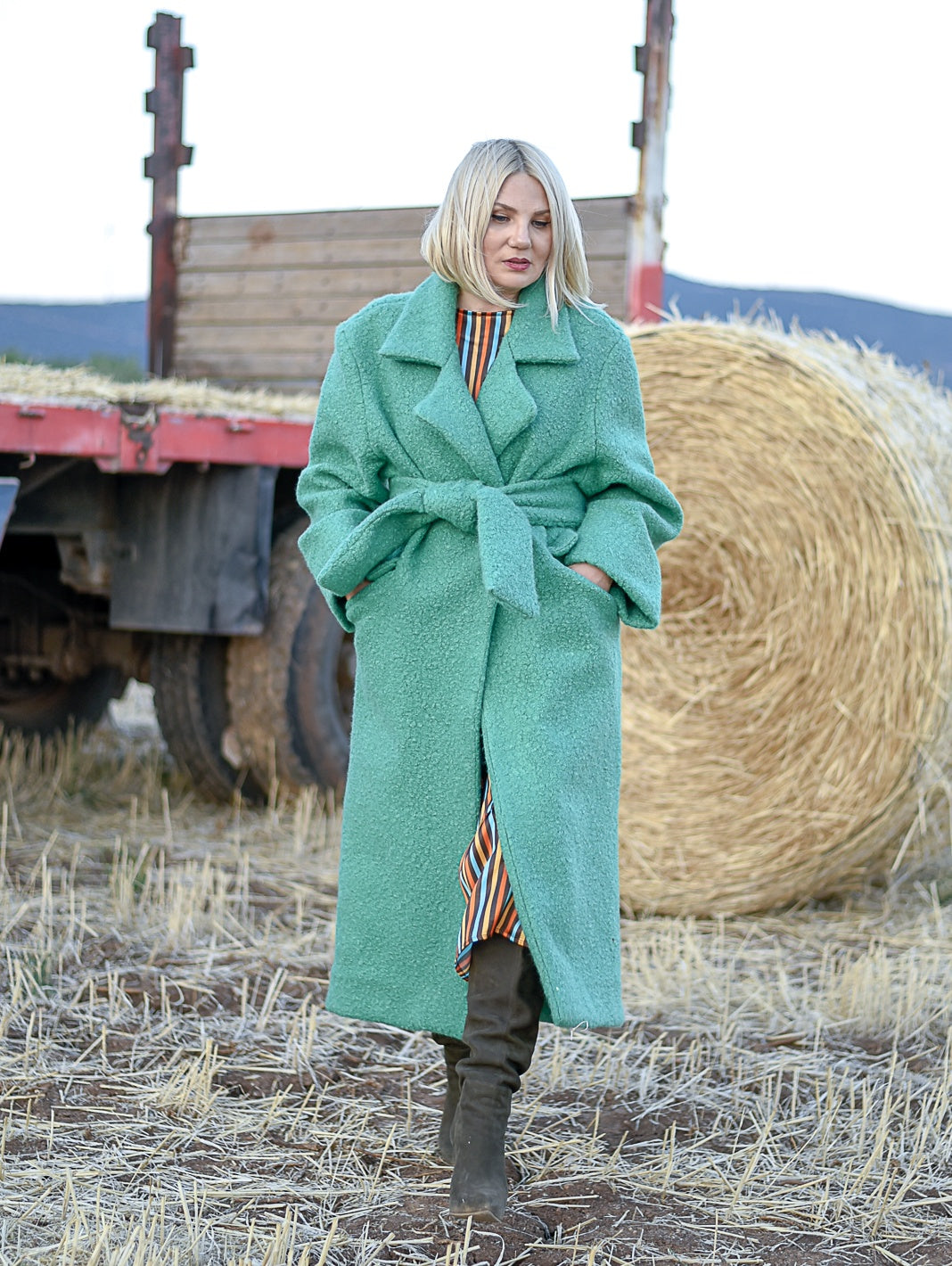 Asper Green Coat Damodastories Collection
