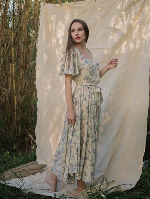Fay Floral Maxi Dress Damodastories Collection