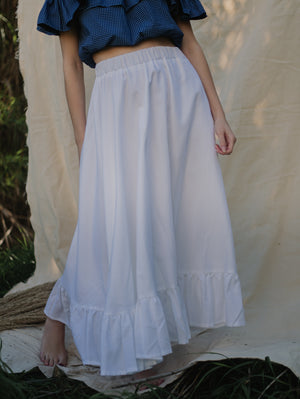 Eva Ivory Maxi Skirt Damodastories Collection
