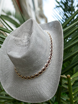 Grey Handmade Summer Fedora Hat