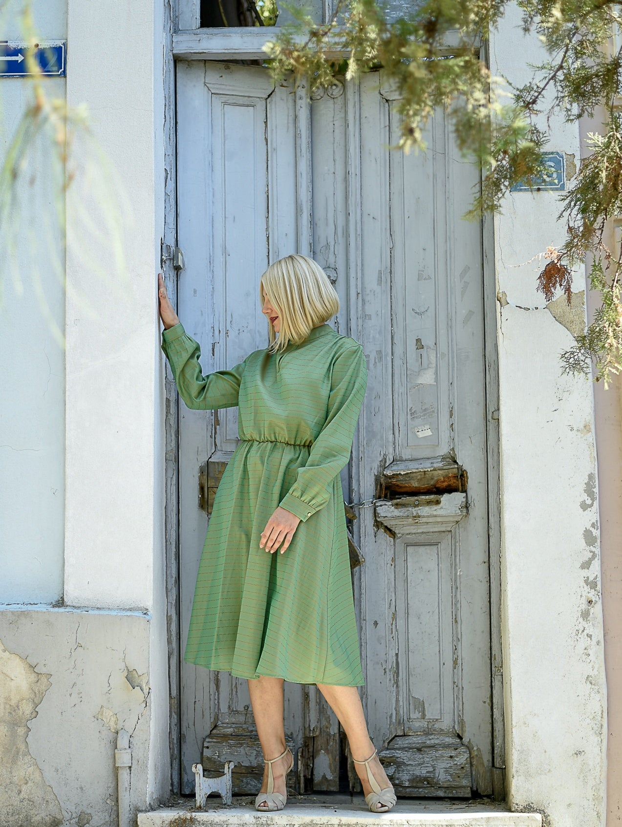 Diana Fern Green Midi Dress Damodastories Collection