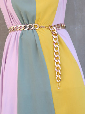 Gold Aluminium Chain Belt