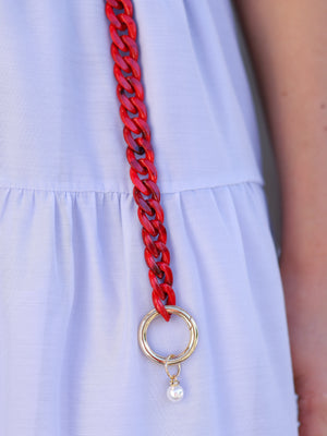 Red Passion Chain Belt
