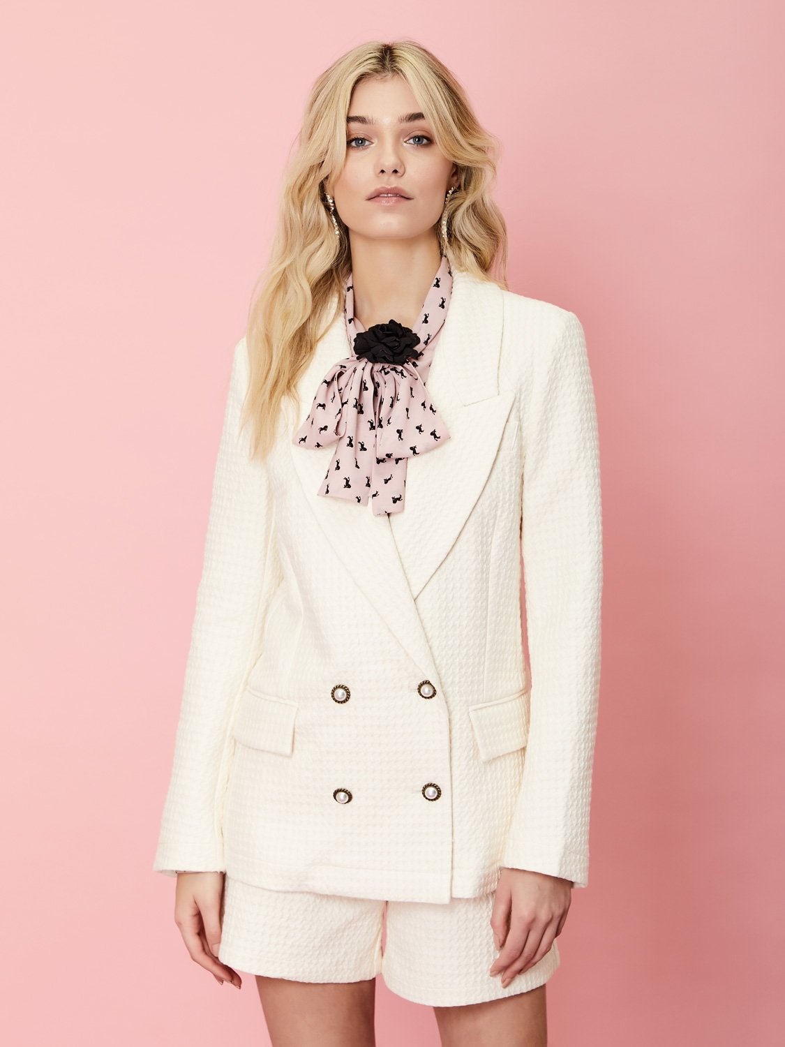 On the Road Textured Blazer Sister Jane