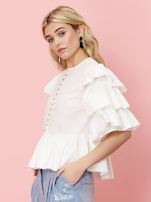 Angel Folk Tiered Sleeve Blouse Sister Jane