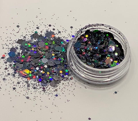 'SILVER' - CHUNKY HOLOGRAPHIC FACE, BODY & ART GLITTER