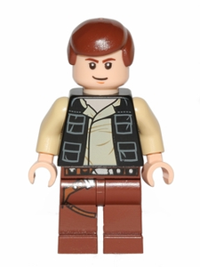 Han Solo, Reddish Brown Legs with Holster Pattern, Vest with Pockets