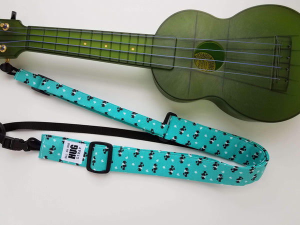 Ukulele Strap ALL in ONE Hug Strap - Tiny Poodles