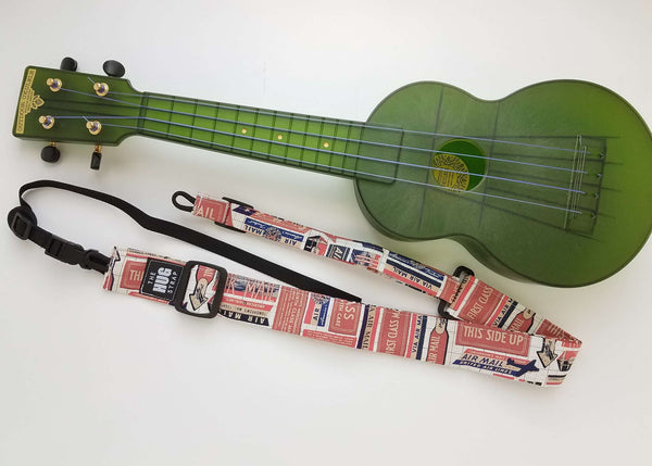 Ukulele Strap ALL in ONE Hug - Airmail