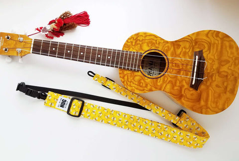 Ukulele Strap ALL in ONE Hug - Bees