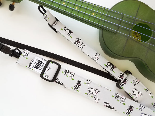 Ukulele Strap ALL in ONE Hug - Cows