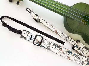 Ukulele Strap ALL in ONE Hug - Horses
