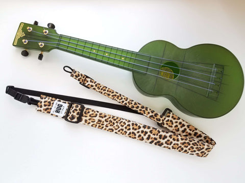 Ukulele Strap ALL in ONE Hug - Leopard Print