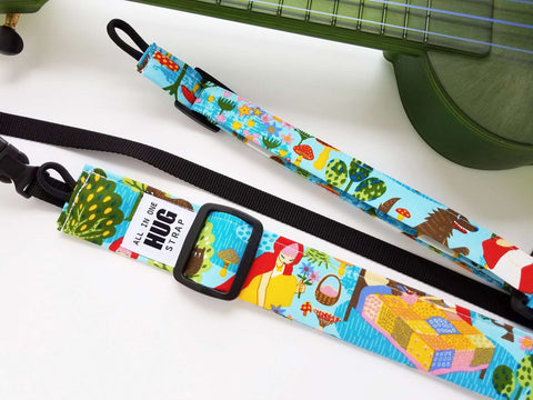Ukulele Strap ALL in ONE Hug Strap - Little Red Riding Hood