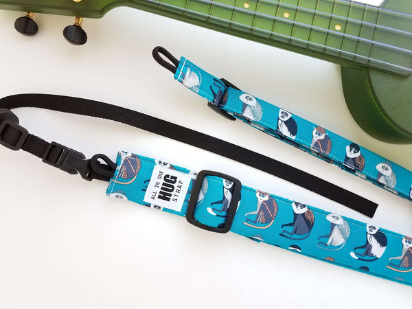 Ukulele Strap ALL in ONE Hug - Monkeys Premium Limited Edition