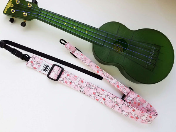 Ukulele Strap ALL in ONE Hug - Pigs