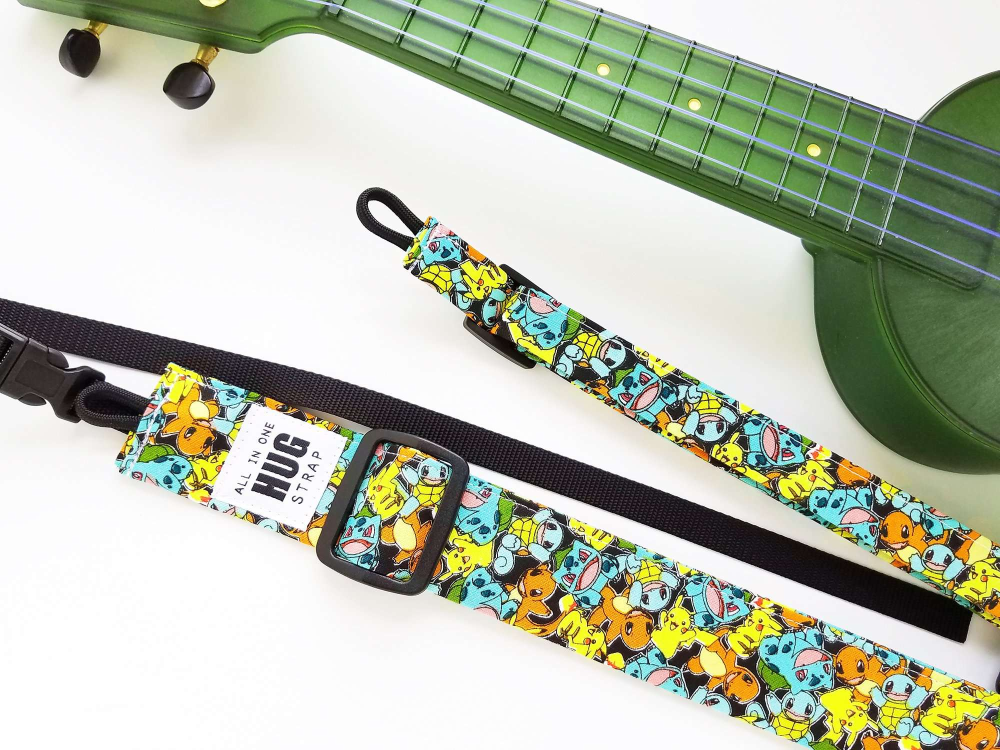 Ukulele Strap ALL in ONE Hug Strap - Little Monsters