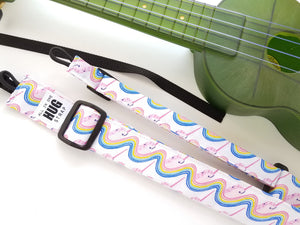 Ukulele Strap ALL in ONE Hug - Rainbow Narwhals- LIMITED EDITION