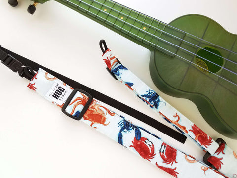 Ukulele Strap ALL in ONE Hug - Sea Catch