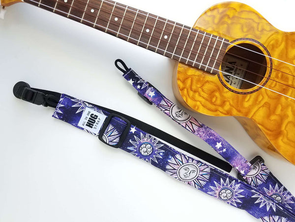 Ukulele Strap All in One Hug - Sun and Stars
