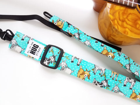 Ukulele Strap ALL in ONE Hug - Goats