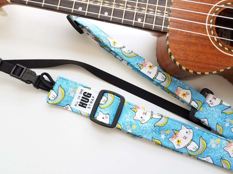 Ukulele Strap ALL in ONE Hug - Mermaid Kitty