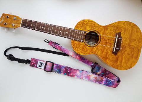 Ukulele Strap ALL in ONE Hug - Purple Cosmos
