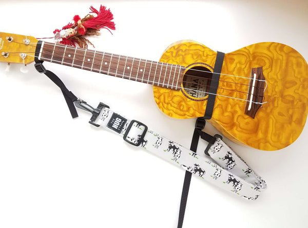 Hug Strap for Ukulele - Cows
