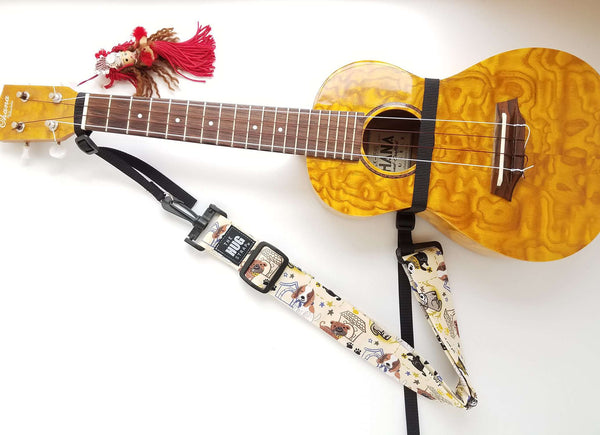 Hug Strap for Ukulele -Cows