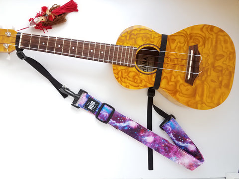 Hug Strap for Ukulele - Purple Star Cosmos
