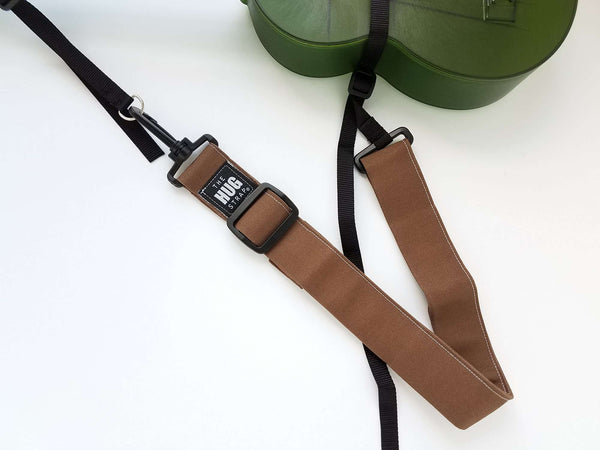 Ukulele Strap - Hug Strap Brown Canvas