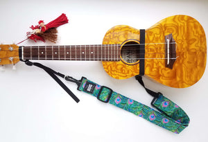 Hug Strap for Ukulele Peacock Feathers
