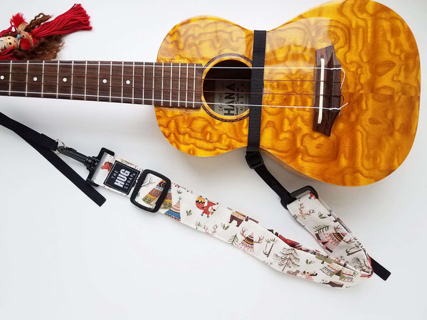 Hug Strap for Ukulele Woodland Animals